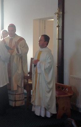 Fr Louis and Bishop Mark