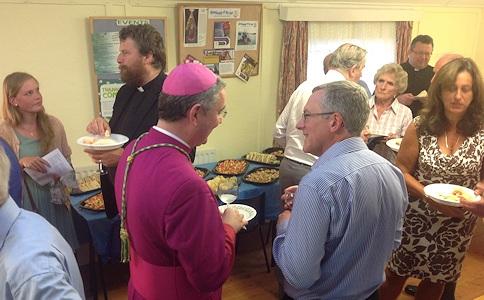 Bishop Mark and guests