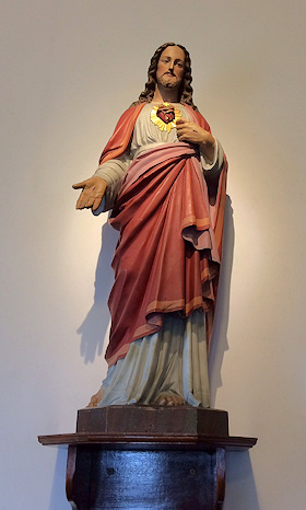 Sacred Heart Statue at Holy Cross Catholic Church